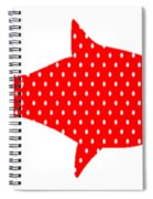 The Red Polka Dot Fish Spiral Notebook