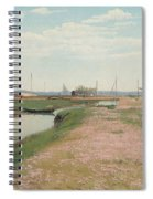 The River And The Harbour At Frederiksvaerk Spiral Notebook