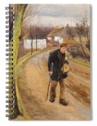 The Road Through The Village Of Ring Spiral Notebook