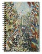 The Rue Montorgueil In Paris  Celebration  Spiral Notebook