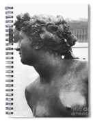 The Saone River From The Parterre D'eau In The Gardens, 1685, Detail, Bronze Spiral Notebook