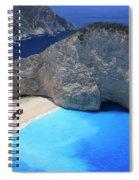 The Shipwreck Beach Zakynthos Greece Spiral Notebook