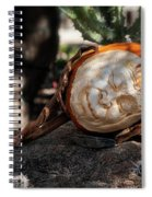 The Sleeping Pumpkinman  Spiral Notebook