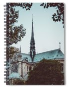 The Spire - Cathedral Of Notre Dame Paris France Spiral Notebook