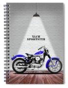 The Sportster Vintage Motorcycle Spiral Notebook