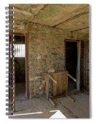 The Stone Jailhouse Interior Spiral Notebook