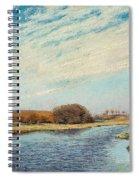 The Susaa River At Naestved, Denmark Spiral Notebook