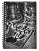 The Telegraph And Glass Insulators Black And White Spiral Notebook