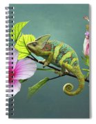 The Veiled Chameleon Of Florida Spiral Notebook