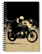 The Vintage Motorcycle Racer Spiral Notebook