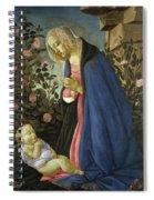 The Virgin Adoring The Sleeping Christ Child Spiral Notebook