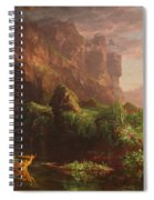 The Voyage Of Life Childhood, 1842 Spiral Notebook