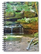 The Waterfall In Old Man's Cave Hocking Hills Ohio Spiral Notebook