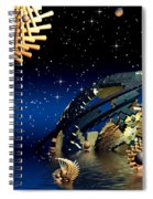 The Wickers-... Out For A  Midnight Swim... Spiral Notebook