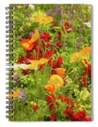 The World Laughs In Flowers - Poppies Spiral Notebook