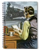 Thomas Edison, The Railway Telegraphist  Spiral Notebook