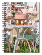 Three Little Pigs And The Birthday Cake Spiral Notebook