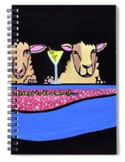 Three Sheeps To The Wind  Spiral Notebook