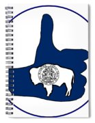 Thumbs Up Wyoming Spiral Notebook