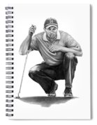 Tiger Woods Crouching Tiger Spiral Notebook