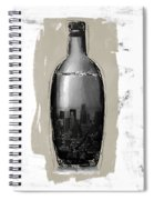 Time In A Bottle 2- Art By Linda Woods Spiral Notebook
