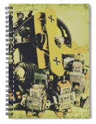 Tin Sign Toys Spiral Notebook