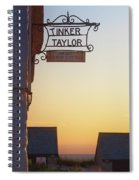 Tinker Taylor Sign Spiral Notebook