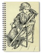 Tiny Tim From A Christmas Carol By Charles Dickens Spiral Notebook