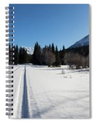 Tire Tracks In Snow In An Isolated Area Of The Kenai Peninsula Spiral Notebook
