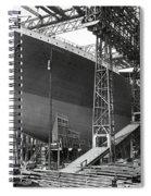 Titanic In Belfast Dry Dock 1911 Spiral Notebook