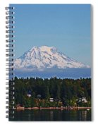 Mt. Rainier From Olympia Washington Spiral Notebook