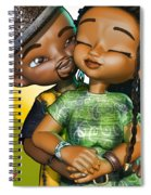 Toon Couple In Love Spiral Notebook