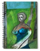 Topless Woman In A Park Spiral Notebook