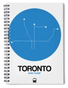 Toronto Blue Subway Map Spiral Notebook