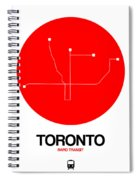 Toronto Red Subway Map Spiral Notebook