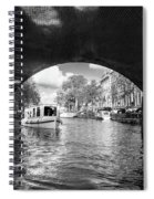 Tourboat On Amsterdam Canal Spiral Notebook