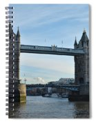 Tower Bridge At Afternoon In London Spiral Notebook