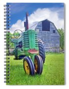 Tractor - On The Farm Spiral Notebook