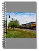 Train In Motion Spiral Notebook