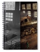 Train - Repair - Third Door On The Right 1942 - Side By Side Spiral Notebook