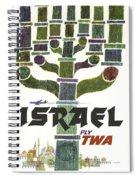 Trans World Airlines - Israel - Vintage Travel Poster Spiral Notebook