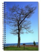 Tree And Great Lake Spiral Notebook