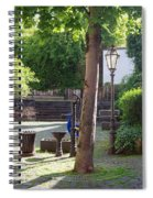 tree lamp and old water pump in Cochem Germany Spiral Notebook