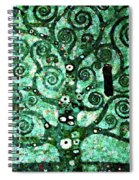 Tree Of Life Abstract Expressionism Spiral Notebook