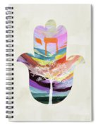 Tree Of Life Hamsa 2- Art By Linda Woods Spiral Notebook