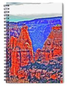 Trees Plateau Valley Color 2871ado National Monument  Spiral Notebook