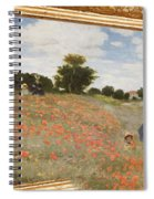 Tribute To Claude Monet Spiral Notebook