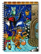 Trick Or Treat Halloween Cats Spiral Notebook