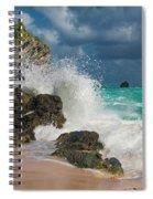 Tropical Beach Splash Spiral Notebook