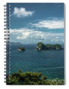 Tropical Island In The Ocean Spiral Notebook